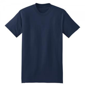 navy basic tee front