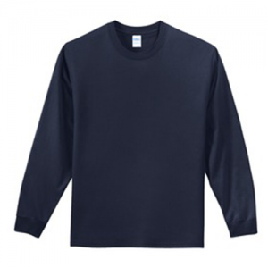 navy long sleeve tee front
