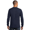 navy long sleeve polo model back