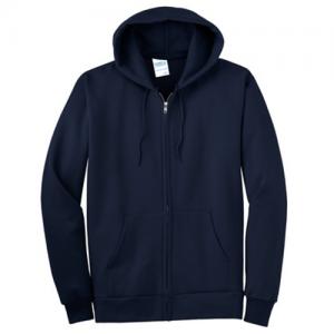 navy hoodie front