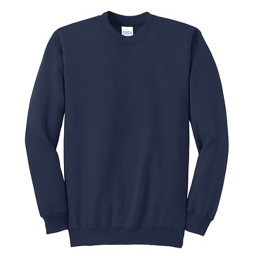 navy long sleeve sweatshirt front