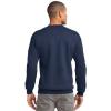 navy long sleeve sweatshirt model back