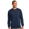 navy long sleeve sweatshirt model front