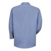 light blue work shirt back