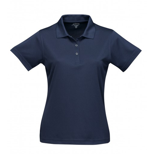 short sleeve womens polo navy front
