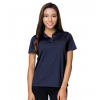 short sleeve womens polo navy model front