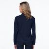 long sleeve women model polo navy back