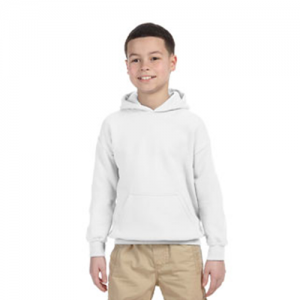 youth white hoodie